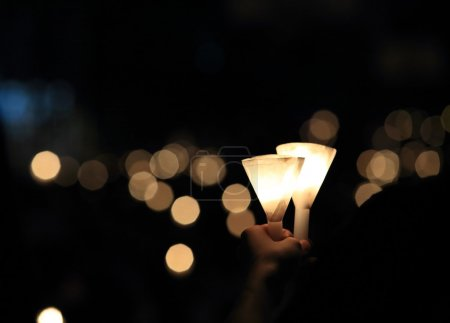 Photo for A candlelight vigil background - Royalty Free Image
