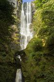 Pistyll rhaeadr vodopád, vysoký vodopád v wales, Velká Británie