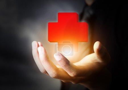 Photo pour Icône Premiers secours, concept d'assurance - image libre de droit