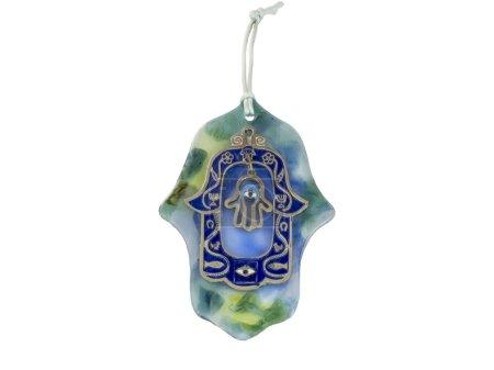 Photo pour Amulette de main Hamsa, utilisé pour conjurer le mauvais œil dans les pays méditerranéens. - image libre de droit