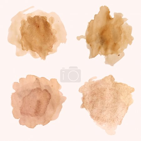 Illustration for Vector set of blots and splashes of spilled coffee - Royalty Free Image