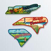 Luggage stickers Tennessee South Carolina North Carolina