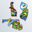 New Jersey, Delaware, Maryland retro state facts v...