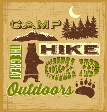 Outdoor Hiking Recreation Collage