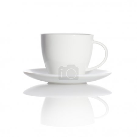 Photo for White cup isolated on white background - Royalty Free Image