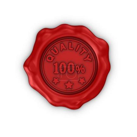 Photo pour Sceau de cire rouge isolé sur fond blanc. 3d rendu . - image libre de droit