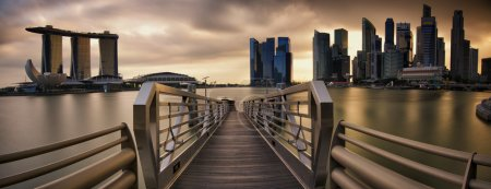 Photo for Panorama of Singapore during sunset - Royalty Free Image