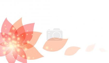 Illustration for Abstract floral background with red flowe and petals - Royalty Free Image