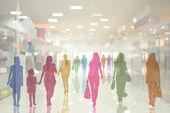 Az emberek az áruházban