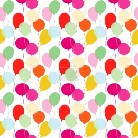 Illustration for Colorful balloons - vector - Royalty Free Image