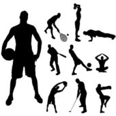 Vector silhouette of sport