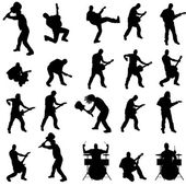 Vector silhouette of the band