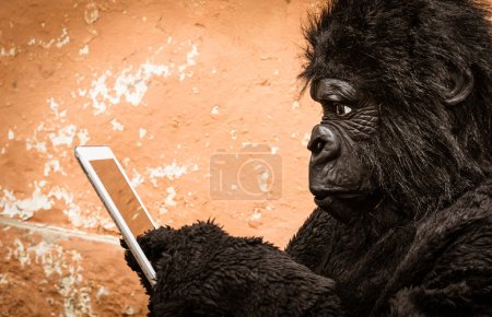 Gorilla with Tablet