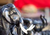Heads of Black Elephant Figurines