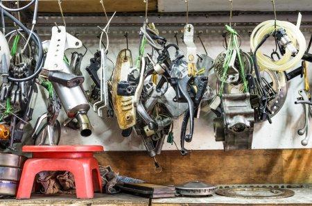 Tools Panel in mechanic Shop