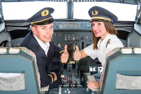 Young Pilots in Flight Simulator