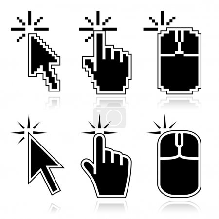 Click here black mouse cursors