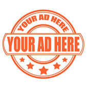 your ad here stamp