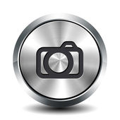 Round metallic button - photo