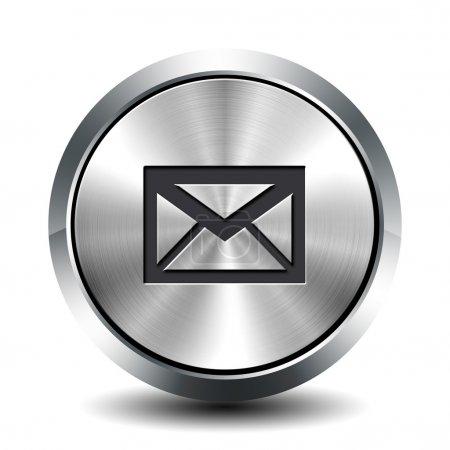 Photo pour Bouton métallique rond - email - image libre de droit