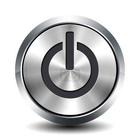 Photo pour Bouton métallique rond - veille - image libre de droit