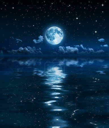Sky dream of a calm sea and clear