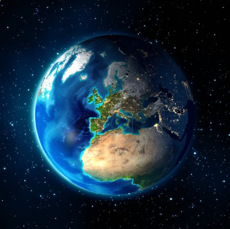 Images NASA - focus on Europe - earth in the space