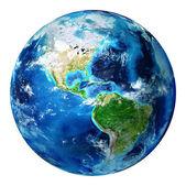 Izolované modré zemi světa - usa