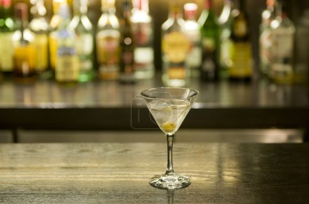 Photo for Martini drink cocktail in a bar - Royalty Free Image