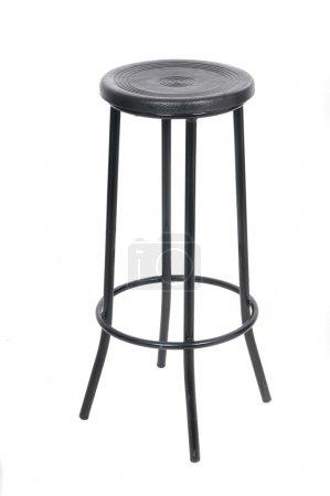 Photo pour Chaise de bar classique isolée sur fond blanc - image libre de droit
