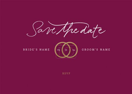 Illustration for Handmade calligraphy Save the Date Vector file - Royalty Free Image