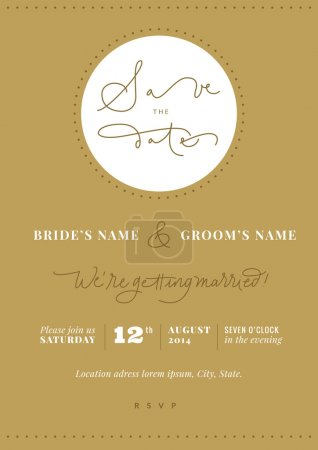 Hand written wedding invitation - Save the Date