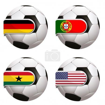 Photo pour Coupe du monde de football au Brésil - image libre de droit