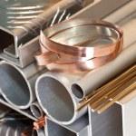 Aluminium, copper pipe and profile, bronze bars...