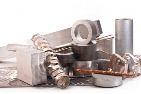 Aluminum tubes, profiles and copper wire, strips o...