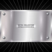 Vector Metallic Award Silver Plate with Screws
