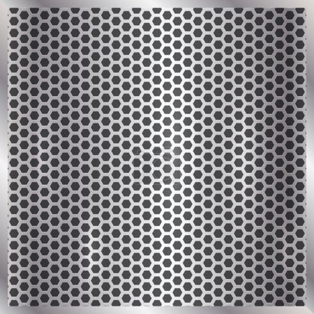 Illustration for Vector metallic silver or aliminum cell grid background - Royalty Free Image
