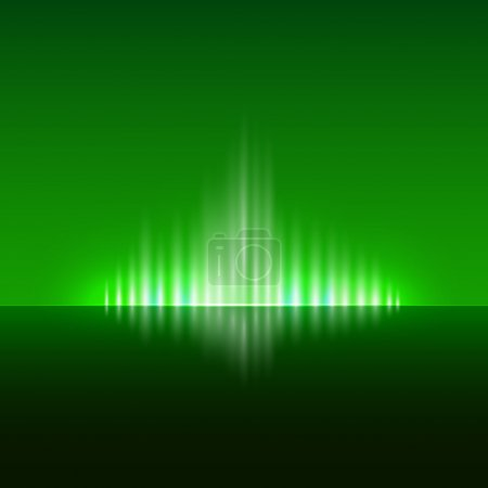Vector abstracto fondo verde oscuro con llama