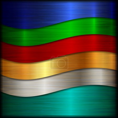 Vector abstract brushed multi color metal texture ...