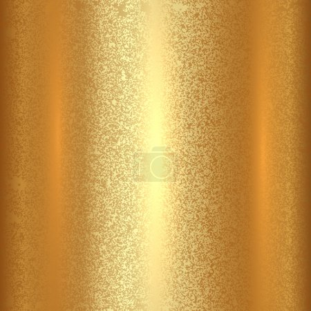 Illustration for Vector abstract gold texture square background with patina effect - Royalty Free Image
