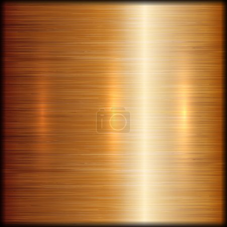 Illustration for Vector abstract brushed copper metal texture background - Royalty Free Image