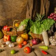 Still life  Vegetables, Herbs and Fruits as ingred...