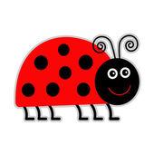 Cute cartoon lady bug Isolated