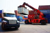 Vysokozdvižný vozík jeřáb kontejner k přívěsu, vietnam depa