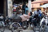 Motorrad-Taxifahrer, vietnam