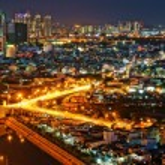 Постер, плакат: Impression night landscape of Asia city