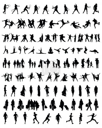 Silhouettes of people 2