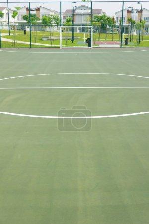 Futsal court concrete flooring and lines
