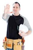 Caucasian man contractor