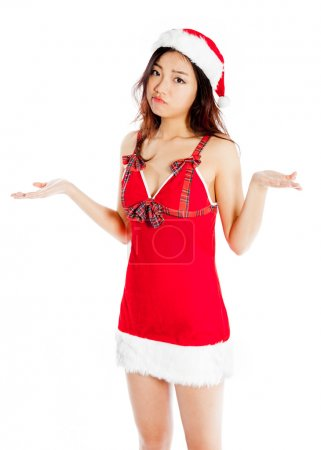 Sexy asian santa claus confused